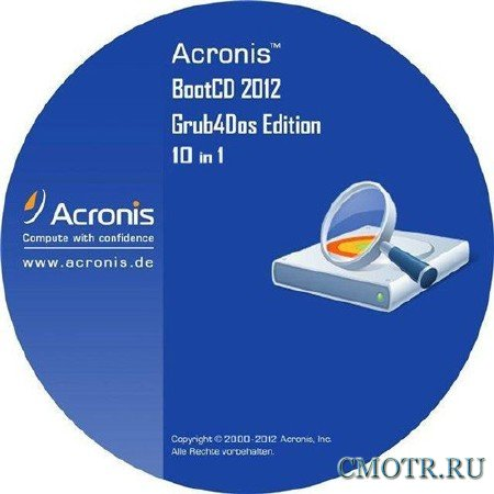 Acronis BootCD 2012 Grub4Dos Edition v.4 10 in 1 (RU)