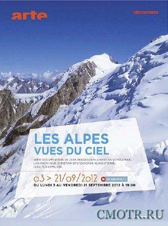 Альпы с неба / Les Alpes vues du ciel (2012) DVB