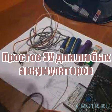 Простое ЗУ для любых аккумуляторов (2013) DVDRip